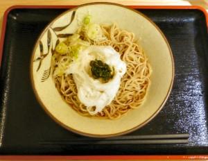 そばよし京橋店で長芋とろろそば430円