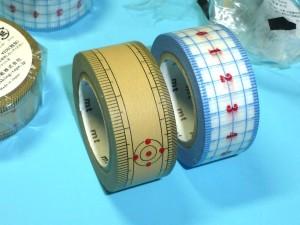 定規柄のマスキングテープは便利!