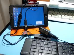 USB OTG充電ケーブルでMiix2 8を動作させる