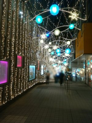 新宿モザイク通り 電飾