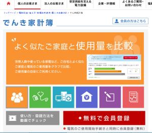 東京電力でんき家計簿