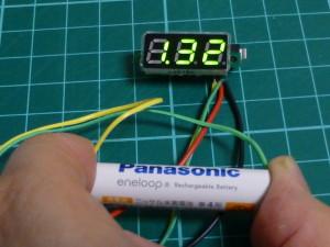 秋月LEDデジタル電圧計を0Vから動作させる方法