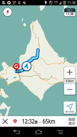 士別→札幌を高速道路で移動