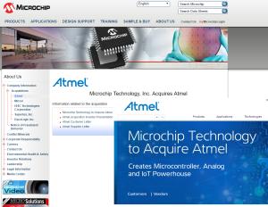 Microchip、Atmelを35.6億ドルで買収