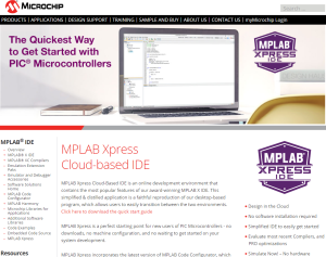 MPLAB Xpress Cloud-based IDE