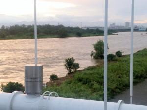 多摩川の水量