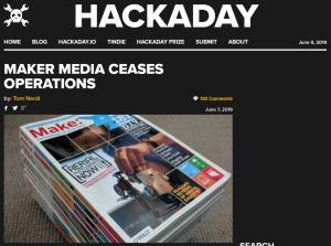 Maker mediaが業務を停止