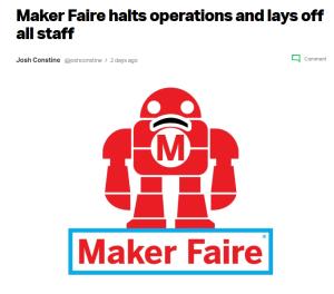 Maker Mediaが業務を停止した