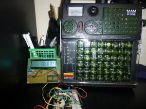 自作気圧計と学研電子ブロック(ラジオ)