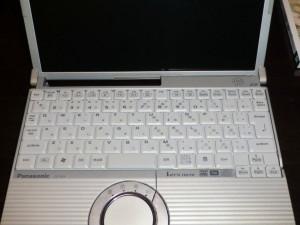 ノートPCのキートップを漂白後