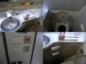 飛行機内トイレ