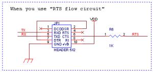 ハードウェアフローで行う場合の回路構成(一部)