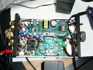 トライパス社TA2020搭載、若松のD級アンプ+ミュート回路